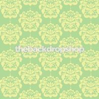 Mint Green Pastel Damask Photography Backdrop - Item 969