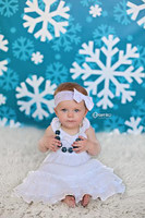 Christmas Themed Photography Backdrop - Seasonal Photography Prop - Snowflake Photo Background for Portraits - Item 1030