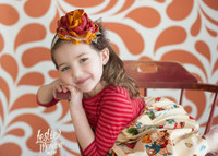 Orange Swirl Pattern Photography Backdrop for  Teen Pictures - Item 1042