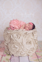 Neutral Ivory Damask Wallpaper Photography Backdrop -  Photo Backdrop for Studio Photography - Item 1047