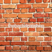 Brick Wall Photography Backdrop or Floor Mat - Photographers Prop for Studio Photoshoots - Item 1075