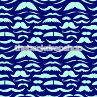 Creative Photography Prop Backdrop - Blue Mustache Photo Prop - Kids Photoshoot Backdrop - Item 1102