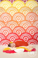Boho Red Orange and Yellow Photo Prop  - Item 1123