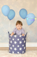 Light Blue Backdrop for Photography - Star Background for Studio Pictures - Item 1143