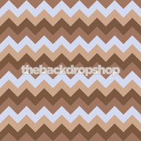 Blue and Brown Chevron Pattern Photography Backdrop  - Item 1164