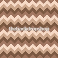 Brown Chevron Pattern Photography Backdrop - Newborn Boy Photo Prop - Item 1165