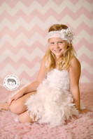 Pastel Pink Photography Chevron Backdrop - Baby Girl Chevron Photo Background - Item 1180