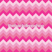 Pink Chevron Zig Zag Photography Backdrop -  Photo Background - Girls Photo Prop - Item 1195