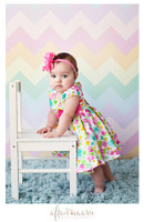 Pastel Chevron Zig Zag Photography Backdrop -  Photo Background - Newborn Photo Prop - Item 1203