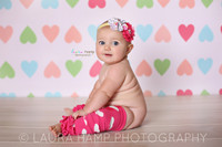 Heart Print Wallpaper Photo Background For Girls - Item 1259