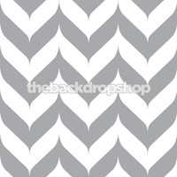 Gray Chevron Print Photo Backdrop - Item 1277
