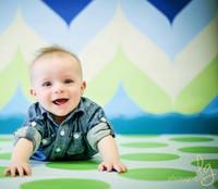 Green and Blue Chevron PhotographyBackdrop - Item 1292
