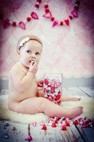 Scribbled Heart Wallpaper Photo Backdrop - Children's Photo Prop Background - Item 1294