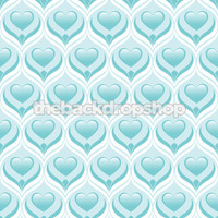 Newborn Boy Photo Prop - Blue Heart Photography Backdrop -  Photographer's Background - Item 1311