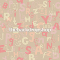 Alphabet Letters Photography Backdrop - Fun Kid's Photo Prop - Pink  Photographer Background - Item 1324
