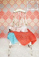 Pink and Blue Pattern Photo Back Drop For Children - Item 1331