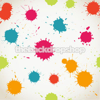 Paint Splatter Photography Backdrop - Fun Children's Photo Prop -  Kid's Photographer Background - Item 1344