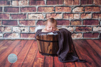 Brown Brick Wall Photo Back Drop or Floor Drop -  Photography Backdrop - Item 1353