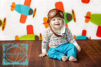 Airplane Themed Photography Backdrop Prop - Little Boys Photo Prop - Photo Drop - Item 1369
