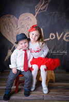 Chalkboard Photography Backdrop - Love and Heart Chalk Board Photo Backdrop - Item 1393