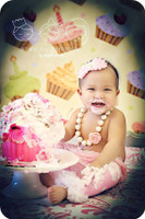 Cake Smash Backdrop - Cupcake Backdrop for Product Photos - Photography Back Drop - Item 1407