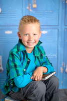 School Locker Photography Backdrop - Blue Lockers Photo Backdrop - Item 1471