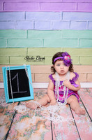 Pastel Painted Brick Backdrop for Kids Photography Photos -  Photo Background - Item 1473
