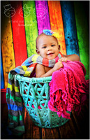 Grunge Rainbow Backdrop for Kids Photos - Photoshoot Background for Photographers - Item 1489