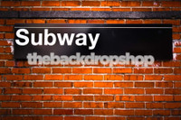 New York Backdrop for Photography -Subway Photo Background - Item 1510