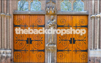 Church Doors Photo Backdrop - Item 1534
