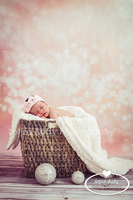 Pastel Pink Bokeh Photography Backdrop - Item 1621