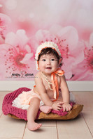 Cherry Blossom Flowers Photography Backdrop - Newborn Photo Backdrop - Item 1627