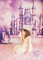 Fairy Tale Princess Castle Photo Backdrop - Fantasy Photography Backdrop - Item 1650