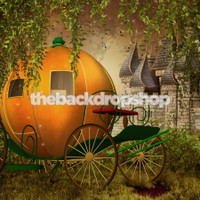 Cinderella Photography Backdrop - Pumpkin Coach and Castle Photo Backdrop Prop - Fantasy  - Item 1651