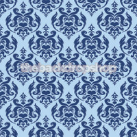Blue Damask Photography Backdrop - Item 1662