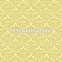 Yellow Damask Wallpaper Photo Backdrop- Fancy Photo Background for Photographers - Item 1726