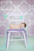 Light Purple Damask Wallpaper Backdrop for Photographers - Newborn or Toddler Girl Photography Backdrop - Item 1743