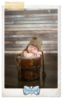 Rustic Weathered Barnwood Floor Drop - Old Brown Gray Wood Plank Photography Backdrop - Item 1750