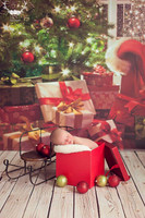 Christmas Tree Photography Backdrop  - Item 1757
