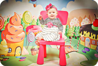Candyland Photography Backdrop - Candy Land Photo Backdrop - Birthday Party Photography Backdrop - Item 1772