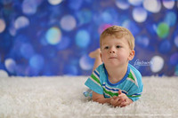 Blue Sparkle Lights Photography Backdrop - Blue Bokeh Photo Backdrop - Holiday Photo Drop - Item 1774