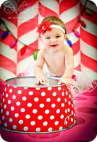 Peppermint Candy Cane Photography Backdrop for  Christmas - Item 1782