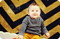 Halloween Orange and Black Chevron Photography Backdrop - Item 1798