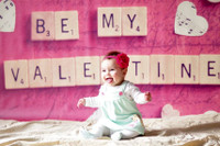 Scrabble Letters Photography Backdrop - Valentines Day Photo Backdrop - Be My Valentine - Item 1821