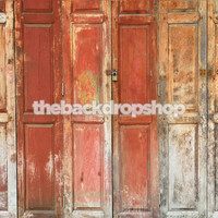 Vintage Wooden Doors Photography Backdrop - 1860