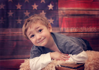 American Flag on Wood Photography Backdrop - Item 1863