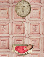 Shabby Pink Ornate Old Carved Wood Wall Photography Backdrop - Weathered Wood Tile Backdrop - Item 1880