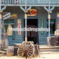 Old Western Storefront Backdrop for Photography - Western Theme Photography Backdrop - Item 1887
