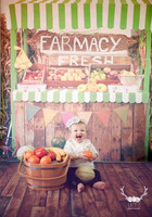 Farm Fresh Fruit and Vegetable Stand Photography Backdrop - Item 1912