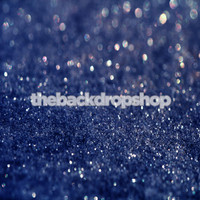 Dark Navy Blue Glitter Photography Backdrop - Blue Night Sky Backdrop  - Item 1971